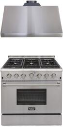 Professional Series 2-Piece Stainless Steel Kitchen Package with KRG3618U 36