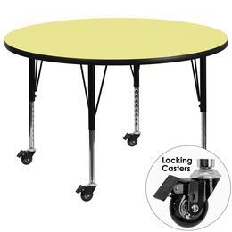 Flash Furniture XUA42RNDYELTPCASGG