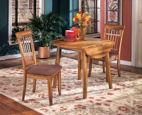 Claudius Collection 3-Piece Dining Room Set with Round Dining Table and 2 Side Chairs in Rustic Brown