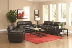 502951SET3 Fenmore 3 Pcs Casual Living Room Set in Dark Brown (Sofa, Loveseat, and Chair)