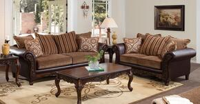 Fairfax 52365SL 2 PC Living Room Set with Sofa + Loveseat in Bomber Chocolate Color
