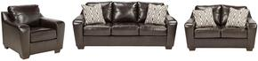 Coppell DuraBlend Collection 59001SLC 3-Piece Living Room Set with Sofa, Loveseat and Living Room Chair in Chocolate