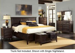 Westlake WSLDM5196 6-Piece Bedroom Set with King Storage Bed, Dresser, Mirror, Two Nightstands and Chest in Dark Mahogany Finish