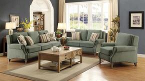 Rosenberg Collection 3-Piece Living Room Set Sofa, Love Seat and Chair in Light Sage Finish
