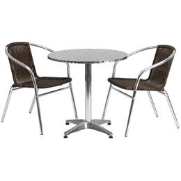 Flash Furniture TLHALUM28RD020CHR2GG