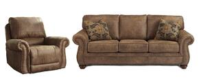 Larkinhurst Collection 31901SR 2-Piece Living Room Set with Sofa and Recliner in Earth