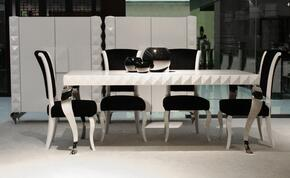 VGDVLS2085PCSET Mia Collection 5 Piece Dining Set With White 79