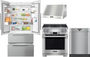 4-Piece Stainless Steel Kitchen Package with KFNF9955IDE 36