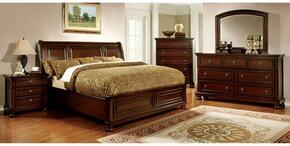 Northville Collection CM7682KBDMCN 5-Piece Bedroom Set with King Bed, Dresser, Mirror, Chest and Nightstand in Dark Cherry Finish