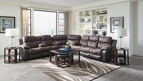 Henderson Collection 4355-1152-89/1300-89SEC 3 PC Sectional Sofa Set with Reclining Sofa + Loveseat + Wedge in Dusk Color