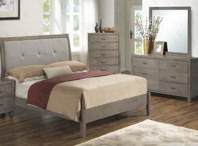 G1205AQBDM 3 Piece Set including Queen Bed, Dreser and Mirror  in Grey