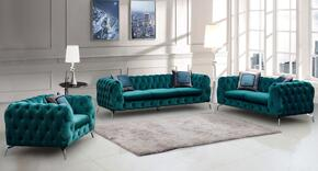 Cosmos Furniture AIDENGREENVELVETSET