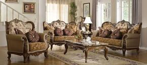 Catania 610-S-L-C 3 Piece Living Room Set with Sofa + Loveseat and Chiar in Dark Cherry Finish