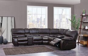 Global Furniture USA U0040AGNESESPRESSOSECTIONAL