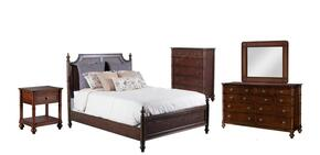 Passages Collection 14BO7024PW5PCKPSMDDLM1DN6DCKIT1 5-Piece Bedroom Sets with King Poster Bed, Dresser, Mirror, Nightstand and Chest in Akzo Nobel