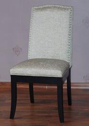 MACY-PRS-SC Macy Upholstered Back Side Chair Finished in Matt Black