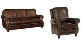 SS185 2-Piece Living Room Set with Sedona Chateau GS Sofa and Recliner in Dark Brown