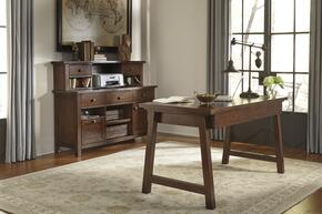 Wassner H584464448 3 PC Large Credenza + Large Desk + Hutch in Dark Brown Finish