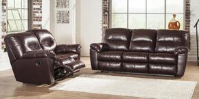 84702882PC Kilzer 2 PC Living Room Set with Reclining Sofa + Reclining Loveseat in Mahogany Color