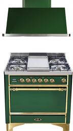 2-Piece Emerald Green Kitchen Package with UMC90FDMPVS 36