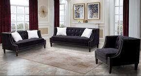 Cosmos Furniture IMANIBLACKVELVETSET