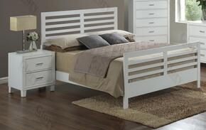 G1275CKB2N 2 Piece Set including King Size Bed and Nightstand  in White