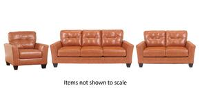 Paulie Collection 27002SLC 3-Piece Living Room Set with Sofa, Loveseat and Living Room Chair in Orange