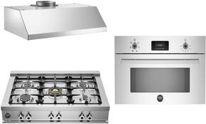 3-Piece Stainless Steel Kitchen Package with CB36500XNG 36