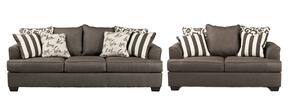Levon Collection 73403SL 2-Piece Living Room Set with Sofa and Loveseat in Charcoal