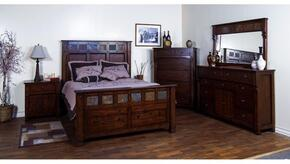 Santa Fe Collection 2322DCCKBDMNC 5-Piece Bedroom Set with California King Bed, Dresser, Mirror, Nightstand and Chest in Dark Chocolate Finish