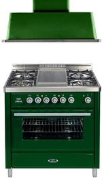 2-Piece Emerald Green Kitchen Package with UMT90FDMPVS 36
