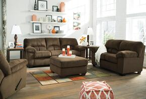 Dailey 95403SLRO 4-Piece Living Room Set with Sofa, Loveseat, Recliner and Ottoman in Chocolate Brown