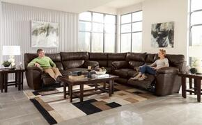 Milan Collection 64341-1283-18/3083-18/1283-09SECP 2 PC Sectional Set with Power Lay Flat Reclining Sofa + Loveseat + Wedge in Smoke Color