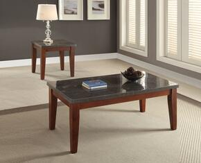 Faymoor 81750CE 2 PC Living Room Table Set with Coffee Table + End Table in Walnut Finish
