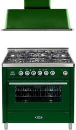 2-Piece Emerald Green Kitchen Package with UMT906DMPVS 36