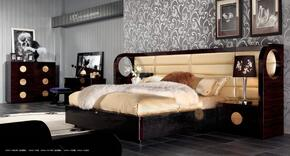VGUNAW225-180QCMV A&X Tuscany Queen Size Bed + Chest + Vanity Table + Mirror in Ebony/Black