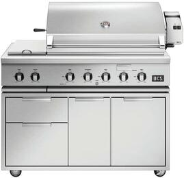 Freestanding Grill with BH1-48RS-N Natural Gas Grill on CAD1-48 Grill Cart
