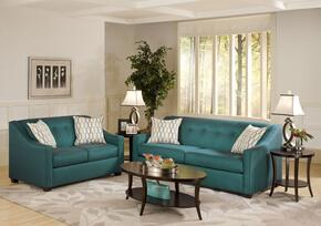 475440SLSSPEA Brittany Sofa and Loveseat with Kiln Dried Hardwood Frames, Throw Pillows and Sewn Pillow Cushions in Stocked Peacock