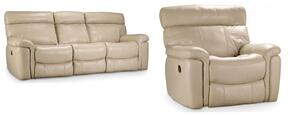 SS620 2-Piece Living Room Set with Power Recliner and Sofa in Taupe