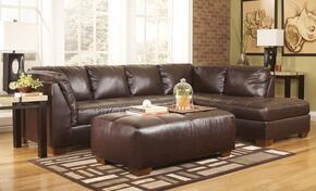 Fairplay DuraBlend 4480066172PCKIT 2-Piece Living Room Set with Right Chaise Sectional Sofa and Oversized Ottoman in Mahogany