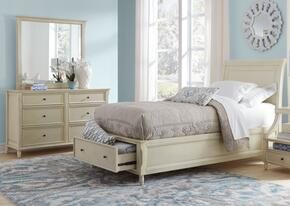 Avignon Youth Collection 1617TPBDM 3-Piece Bedroom Set with Twin Storage Bed, Dresser and Mirror in Ivory