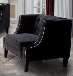 Cosmos Furniture IMANICHAIRBLACKVELVET