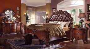 Vendome Collection 22000Q6PCSET Queen Size Bed + Dresser + Mirror + Chest + 2 Nightstands in Cherry Finish