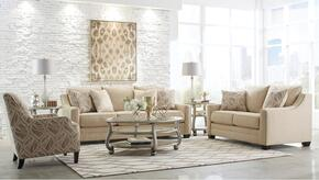 Mauricio 81601-38-35-21 3-Piece Living Room Set with Sofa, Loveseat and Accent Armchair in Linen Color