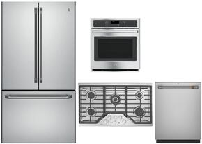 4 Piece Stainless Steel Kitchen Package With CWE23SSHSS 36