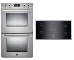 "Professional 2-Piece Stainless Steel Kitchen Package with FD30PROXT 30"" Double Electric Wall Oven and P365IX 36"" Electric Cooktop"