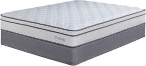 Lilium Plush Collection MF-121/210-T Mattress and Foundation Set in Twin Size