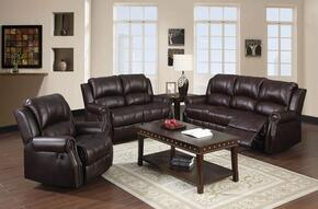 Josef Collection 50775SLRT 6 PC Living Room Set with Sofa + Loveseat + Recliner + Coffee Table + 2 End Tables in Brown Color