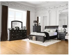 Argusville Collection CM7381CKSBDMCN 5-Piece Bedroom Set with California King Storage Bed, Dresser, Mirror, Chest and Nightstand in Espresso Finish