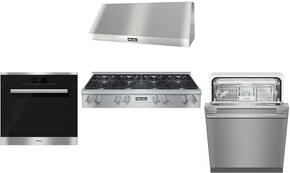 4-Piece Stainless Steel Kitchen Package with KMR1354G 48